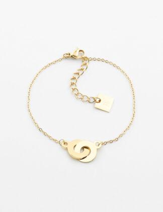 ZAG Bow Bracelet – Gold-plated steel