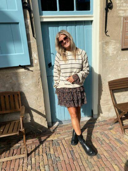 Harper & Yve Renee Sweater ecru/stripe